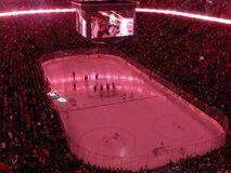 NHL Hockey Professional sports - Montreal Canada home of the Canadiens Habs playing in the centre Bell center royalty free stock image