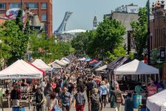 Summer Street Fair in Montreal royalty free stock photo