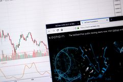 Vechain home page stock images