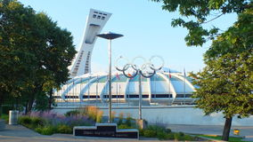 Montreal, Canada - Montreal Olympic Stadium on July 31, 2013. The Montreal Olympic Stadium in the Hochelaga-Maisonneuve district of Montreal, Quebec. This Stock Photos