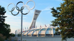 Montreal, Canada - Montreal Olympic Stadium on July 31, 2013. The Montreal Olympic Stadium in the Hochelaga-Maisonneuve district of Montreal, Quebec. This Stock Photo