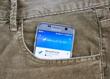 Microsoft To Do android application stock images