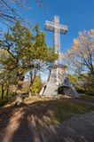 Montreal Mont-Royal Cross royalty free stock photo