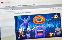 Pokemon Go Home Halloween page Royalty Free Stock Photography