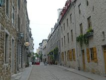 Montreal Canada Old City buildings royalty free stock photography