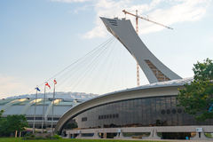 Montreal,Canada: Olympic Stadium in the Afternoon Royalty Free Stock Photos