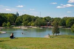 Beaver Lake in Montreal, Canadan stock images