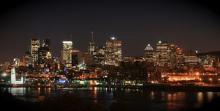 Montreal, Canada - skyline by night Royalty Free Stock Photography