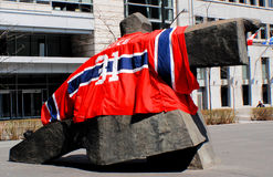 Montreal Canadians fan Stock Image