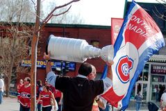 Montreal Canadians fan Royalty Free Stock Photography