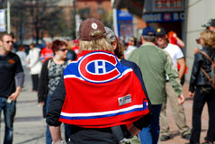 Montreal Canadians fans Royalty Free Stock Image