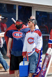 Montreal Canadians fans Stock Image