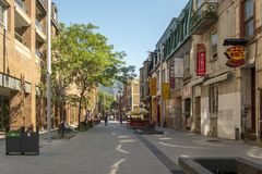 Montreal Chinatown stockfoto