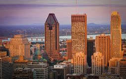 Montreal city. View of Montreal city skyline at dusk stock photo