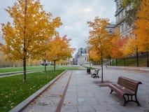 Montreal city in autumn, Canada stock photo