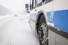 Montreal City Bus Stock Photos