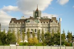 Montreal city hall. Montreal politics hotel de ville city hall building  mayor office Stock Photography