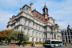 Montreal City Hall stock image