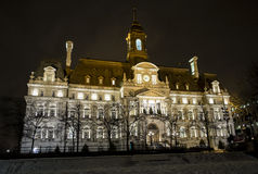 Montreal City Hall at night Stock Photos