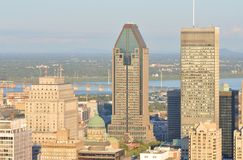 Montreal City Skyline Royalty Free Stock Image