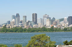 Montreal city skyline. Viewed from Ile Notre-Dame, Montreal, Quebec, Canada royalty free stock photos