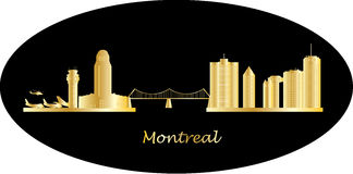 Montreal city skyline Stock Images