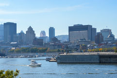 Montreal city skyline in the old port Royalty Free Stock Photo