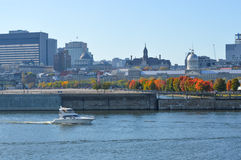 Montreal city skyline in the old port Royalty Free Stock Photography