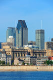 Montreal city skyline over river Royalty Free Stock Photography