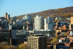 Montreal city skyline, Quebec, Canada Royalty Free Stock Photos