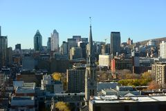 Montreal city skyline, Quebec, Canada Stock Images