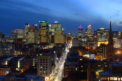 Montreal city skyline at sunset, Quebec, Canada Stock Photos