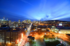 Montreal city skyline at sunset, Quebec, Canada. Montreal city skyline at sunset, Montreal, Quebec, Canada stock photos