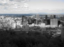 Skyline from Mont Royal, Montreal royalty free stock images