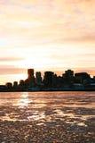 Montreal city in winter stock photos