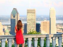 Montreal City Woman Stock Image