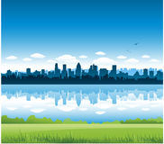 Montreal cityscape background Stock Images