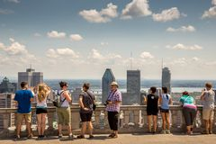 Montreal Cityscape Stock Photography
