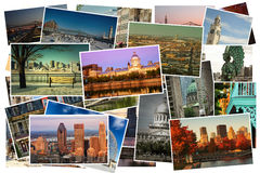 Montreal Collage pictures Stock Photo