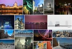 Montreal collagebilder Arkivbild