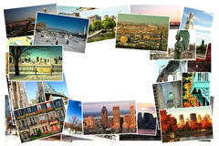 Montreal collagebilder royaltyfria bilder