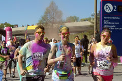 2014 Montreal Color me Rad 5k  race Royalty Free Stock Photography