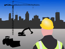 Montreal construction site Royalty Free Stock Photography