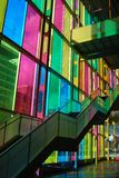 Montreal Convention Centre. With multicolored glass, Canada Royalty Free Stock Images