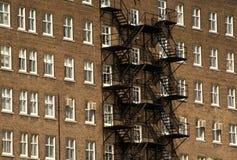 Montreal - costruzione del particolare di architettura con la scala fotografia stock