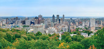 Montreal day view panorama Stock Image
