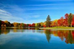 Montreal, de Herfst, Quebec Canada stock foto