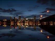 Montreal an der Dämmerung Stockfotografie