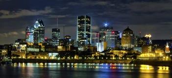Montreal di notte Fotografia Stock