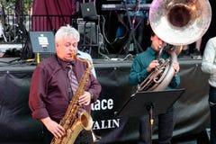 """""""Montreal Dixie† in Montreal Jazz Festival, 2017 royalty-vrije stock fotografie"""